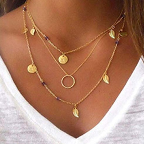 Jewelry - New Boho style multi layered Gold chain necklace